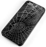 iPhone Case Fits iPhone SE 5s 5 Spider Web With Water Beads Network Dewdrop Clear Plastic