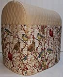 Quilted Birds & Berries Sunbeam Heritage Series 4.6qt Mixmaster Cover (Tan)
