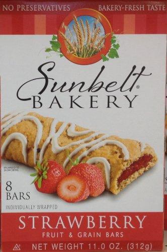 Sunbelt Bakery's STRAWBERRY Fruit & Grain Bars 8-Count (12 Boxes) by Sunbelt Bakery