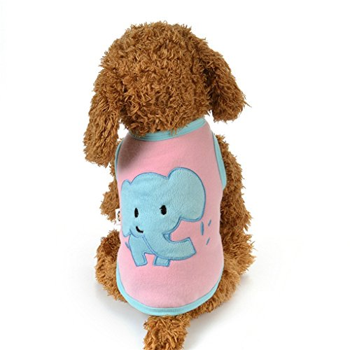 Costumes For Dogs Sydney (Hihihappy Lovely Shirt,Winter Warm Dog Clothes Cute Elephant Pattern Costume For Small Dogs Coat PinkS)