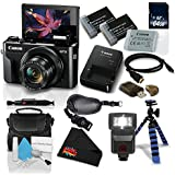 Canon PowerShot G7 X Mark II Digital Camera w/1 Inch CMOS Sensor and Tilt LCD Screen Touchscreen- Deluxe Bundle (1066C001)