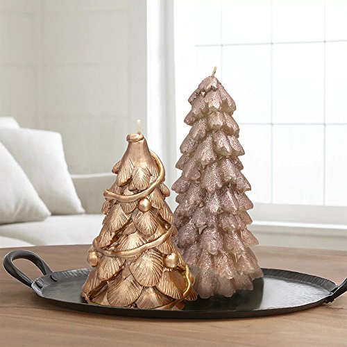 "LA JOLIE MUSE Christmas Table Decor Trees Candles 2 Pack 8"", Party Window Decorations"