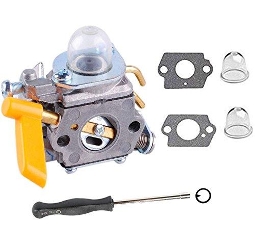 Podoy 26cc Carburetor for Homelite Ryobi C1U-H60 308054013 with Adjusting Tool Kit Primer Bulb 25cc 30cc String Trimmer Backpack Blower Weed Eater Carburetor by Podoy