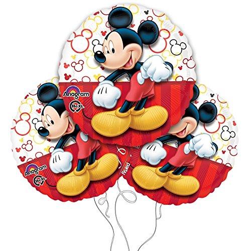 Disney Mickey Mouse 17 Inch Mylar Balloons 3pk ()
