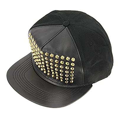 Unisex Rivet Hat Punk Studded Flat Baseball Hip-hop Hat Spiky Stud Cap