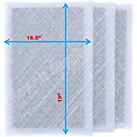 Air Ranger Replacement Filter Pads 20X21.5 (3 Pack) White