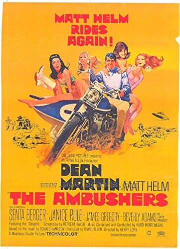 The Ambushers Poster Movie C 11x17 Dean Martin Janice Rule James Gregory Albert Salmi - Ambushers Poster