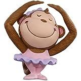 Hallmark Merry Miniatures Ballerina Monkey Figurine