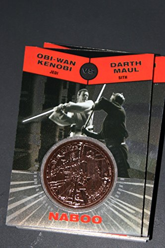 2015 Star Wars Chrome Perspectives Jedi vs. Sith Trading Cards Bronze Medallion Obi Wan Kenobi vs. Darth Maul NABOO