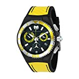 TechnoMarine Men's TechnoMarine Yellow Silicone Band Steel Case Quartz Black Dial Analog Watch 115181