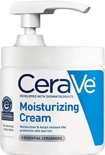CeraVe Moisturizing Cream with Pump 16 oz Daily Face and Body Moisturizer for Dry Skin