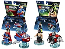 Lego Dimensions DC Comics Fun Pack Bundle of 2 - Superman Fun Pack (71236) & Bane Fun Pack (71240)