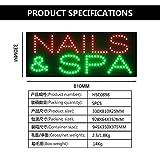 LED Nails Spa Sign for Business, Super Bright LED