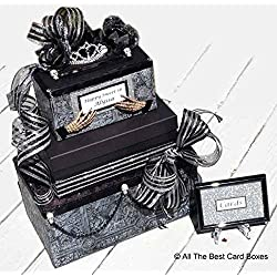 Gothic Halloween Card Box, Sweet 16 invitation, Halloween Wedding, Quinceanera, Skull, Handmade, Personalized, All The Best Card Boxes
