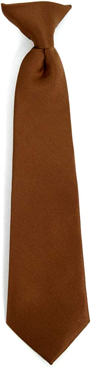 Formal Neckties for Boys Boys Solid Color Clip on Tie Pretied For Kids