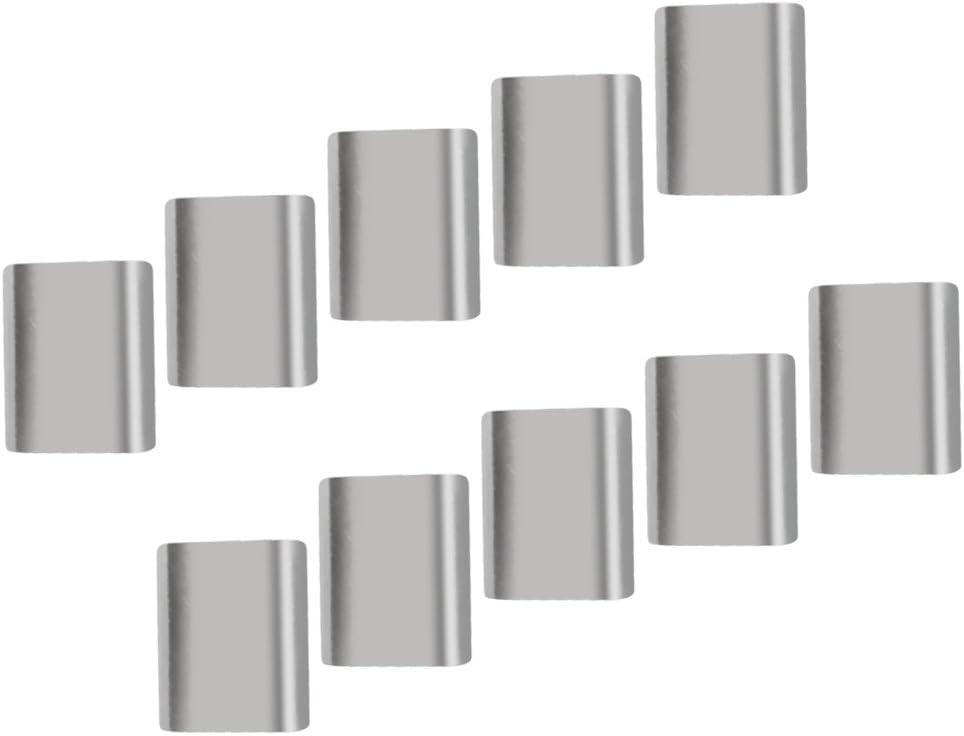 10x Rostfreie Aluminiumzwingen Stahldrahtseil Crimph/ülse Glatte Oberfl/äche 3mm