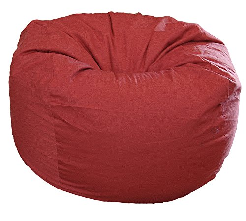 Ahh! Products Dark Red Organic Cotton Large Bean Bag Chair Bean Bag Red Twill