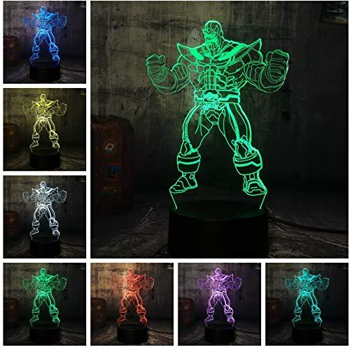 Guo Luces De Noche 3D Vengadores L/ámparas De Mesa 3D Varios Colores Pueden Iluminar Tu Belleza Juguetes Para Ni/ños Luces De Noche Thanos
