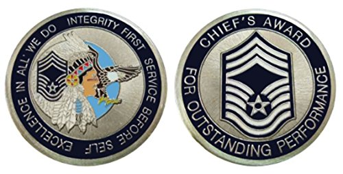 Air Force Chief Master Sergeant E9 Challenge Coin ()