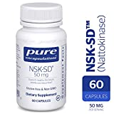 Pure Encapsulations - NSK-SD - Nattokinase 50 mg - Enzymes to Promote Healthy Blood Flow, Circulation, and Blood Vessel Function* - 60 Capsules