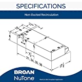 Broan-NuTone BUEZ124WW Non-Ducted Ductless Range