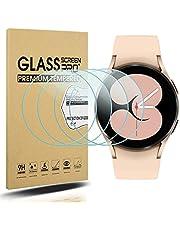 Diruite 4-pack för Samsung Galaxy Watch 4 40 mm skärmskydd härdat glas för Samsung Galaxy Watch 4 40 mm smartklocka [2,5D 9H hårdhet] [Anti-repa] [Optimerad version]