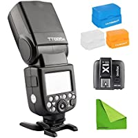 Godox TT685S 2.4G HSS 1/8000s TTL GN60 Wireless Speedlite Flash +Transmitter XT1S for Sony A7 A7R A7S A7 II A7R II A7S II A6300 A6000 with EACHSHOT Cleaning Cloth