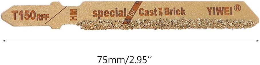 Numkuda 3pcs 3 T150 Carbide Grain 50 Grit T-Shank Jigsaw Blades Ceramic Tile Cutting Tool New