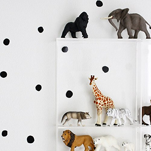 Wee Gallery WeeCals, Easy to Peel Removable Wall Art Decals For Baby's Nursery - Dots (Wallpaper Gallery Border)