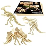 WoodFlair 3D Wooden Puzzle, Set of 3, Prehistoric2