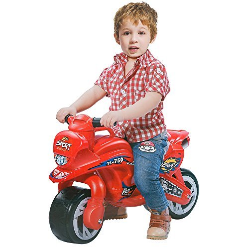 COLOR TREE Ride-on Push Bike for Toddlers Plastic Balance Bike Outdoor & Indoor Stroller Toy Motorcycle 2 Wheel Walking Activity Trainer
