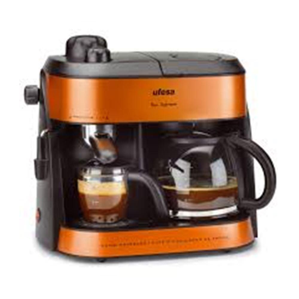 Ufesa CK7355 Macchina da caffè combi 1L 10tazze Arancione macchina per caffè