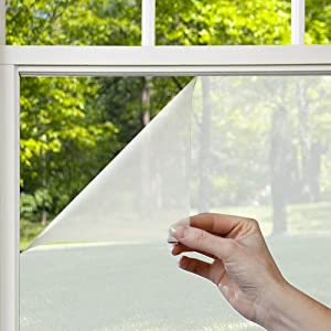 Gila Privacy Control Frosted Residential Window Film DIY Adhesive Easy Install 4ft x 6.5ft (48in x 78in) (19.5 sq ft)