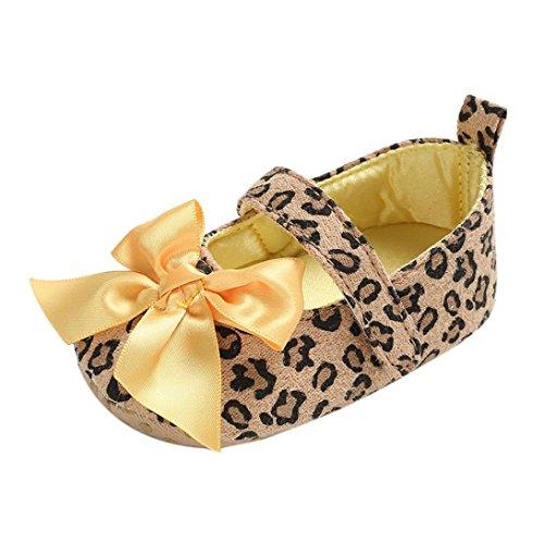 wuayi Baby Mädchen Lauflernschuhe Yellow(bowknot)