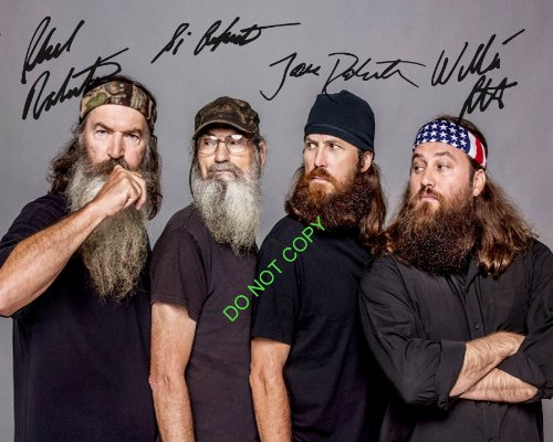 Duck Dynasty cast reprint signed photo #4 Willie Si Jase Phil Robertson RP Signed Ducks