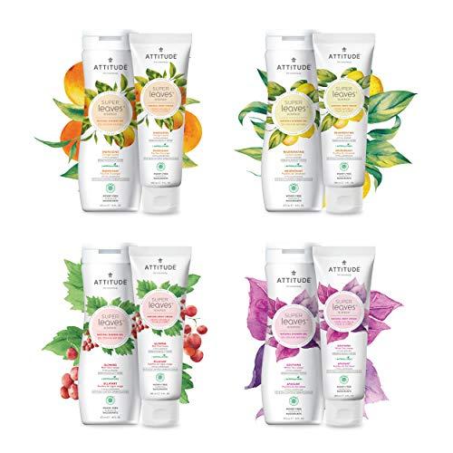 ATTITUDE Nourishing Body Wash, For Dry & Sensitive Skin, EWG Verified, Hypoallergenic Vegan Cruelty-Free Body Wash, Olive Leaves, 16 Fluid Ounce