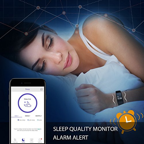 ToHayie Fitness Tracker Watch, TH Bluetooth Fitness Tracker with Heart Rate Monitor Activity Bluetooth Bracelet Watch for Apple IOS Android Smartwatch with Sleep Monitoring Wristband Band