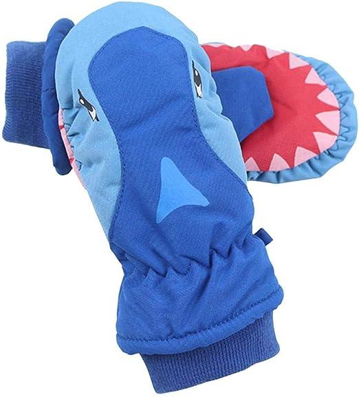 Boys Childrens Kids Fleece Lined Windproof Winter Ski School Gloves Gripper Palm