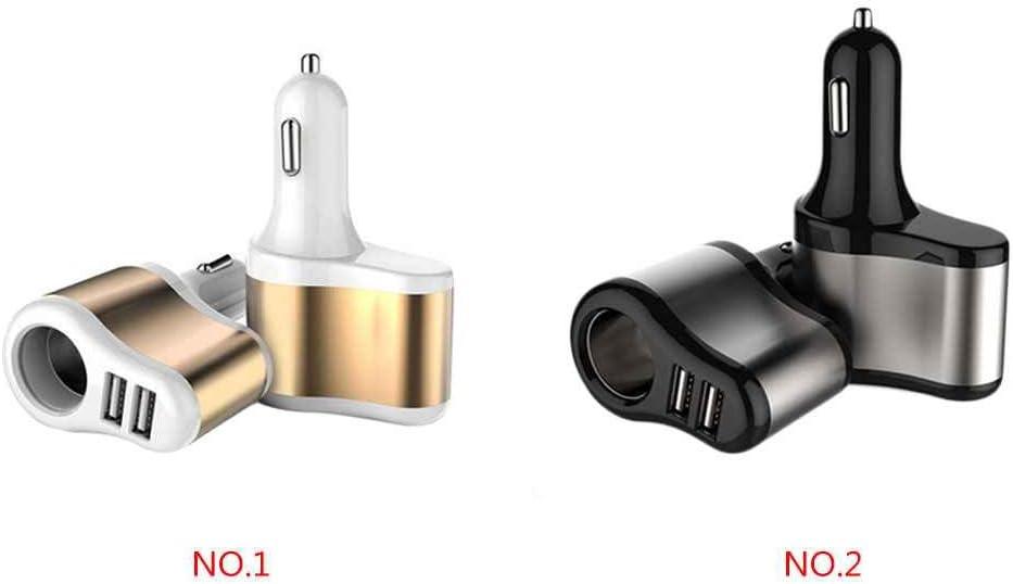 Ben-gi Auto-Ladeger/ät DC 12V 24V Dual Socket 2 USB-Anschl/üsse Auto-Tr/äger-Zigarettenanz/ünder-Adapter-Energien-Buchse Ladeger/ät