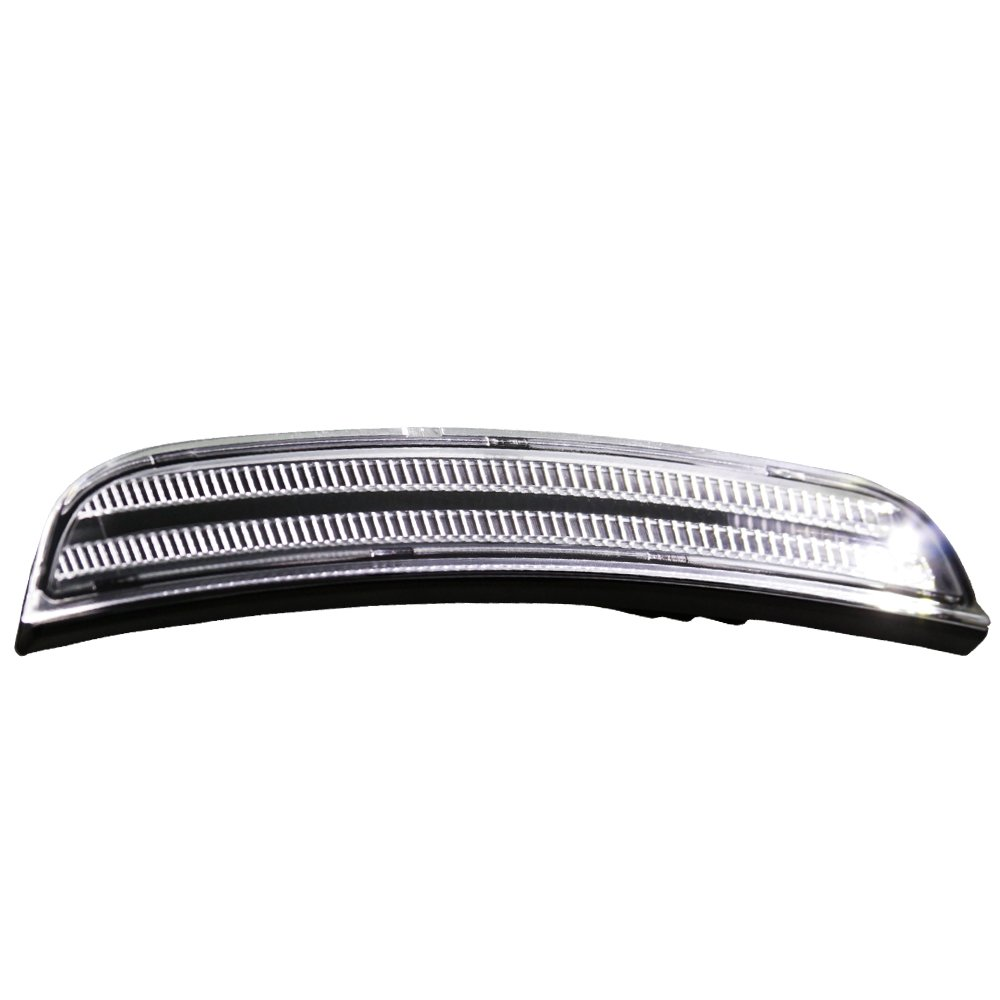 TopPick 68214405AA-68214404AA-CW Bumper Reflector Lights FOR Dodge Charger 2015-2019 Clear//Black