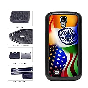 India and USA Mixed Flag 2-Piece Dual Layer Phone Case Back Cover Samsung Galaxy S4 I9500