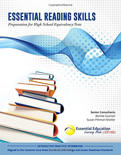 - Essential Reading Skills, Preparation for High School Equivalency Tests
