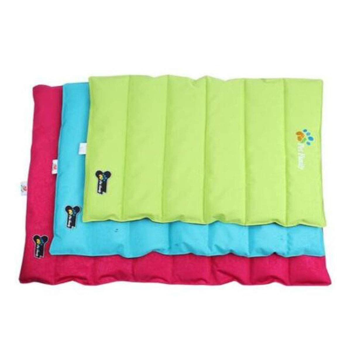 Red S Red S Dog Bed, Dog Cooling Bed, Summer Dog Cooling Pad, Ultra-Thin Cooling Artifact for Sofa Floor Car Sleeping Pad Foldable, Red Green bluee Pink L (color   Red, Size   S)