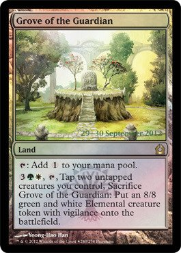 Magic: the Gathering - Grove of the Guardian (240) - Prerelease & Release Promos - Foil