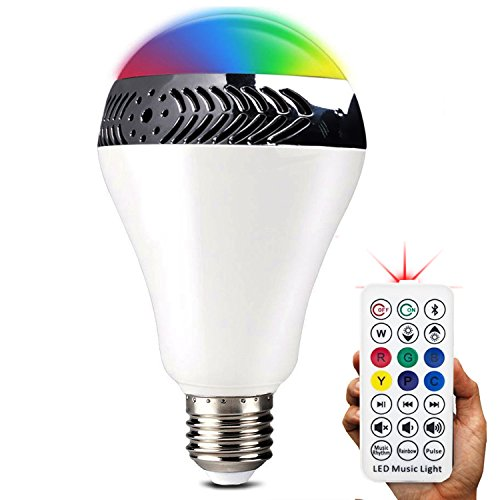 InaRock Bluetooth Smart LED Light Bulb Speaker Dimmable Multicolored Color Changing LED Bedside Desk Lights Bar Sinks - Smartphone and IR Remote Controlled