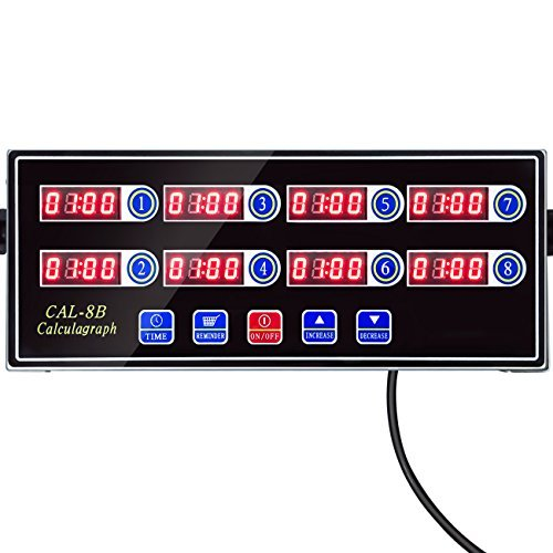 YOOYIST Home 8 Channels Digital Kitchen Timer Reminder Burger Cooking Timming Loud Alarm Stainless Steel LED Display for Commercial Restaurant by YOOYIST