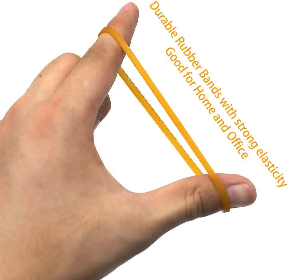 66 mm di lunghezza quando /è piatto per scuola giallo scuro Hengrongyuan casa e ufficio 100 elastici universali in gomma