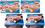 Assortment of 48 Hostess Products! 2 Boxes Raspberry Zingers + 2 Boxes Chocolate Devils Food Cake Zingers