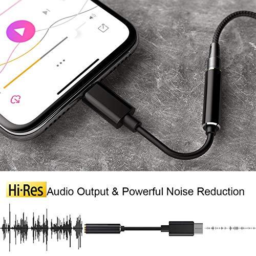 USB C DAC-USB C Headphone Adapter-Portable 32 Bit Headphone Amplifier-Type C to 3.5mm Jack Adapter-Premium Sound Enhancer for Google Pixel 2/3/4XL,Samsung Galaxy S20 Note 10/10+,Oneplus iPad Pro
