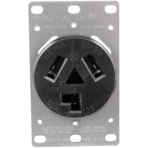 5207 SINGLE-FLUSH DRYER RECEPTACLE (3 WIRE) 5207 SINGLE-FLUSH DRYER RECEPTACLE (3 WIRE)